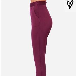 f77682bad Lulu s Pants - Lulus FANTASTIC PHANTOM BURGUNDY HIGHWAISTED PANTS